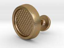 Custom Cufflink #01 in Polished Gold Steel