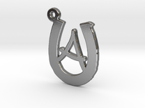 Horseshoe Monogram A in Polished Silver