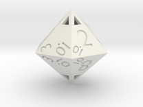Sphericon-based d12: hollow in White Strong & Flexible