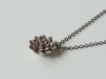 Spikey Succulent Pendant in Stainless Steel