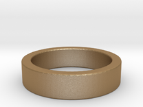 Basic Ring US7 in Matte Gold Steel