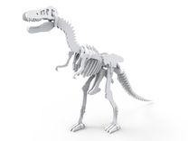T-Rex 3D Model (miniature 7cm) in White Strong & Flexible