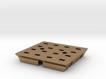 8x8 Base#1.5v2 in Raw Brass