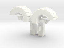 Ultra Magnus Arm Wheels (Deep Version) in White Strong & Flexible Polished