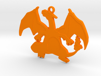 POKEMON Charizard Pendant  in Orange Strong & Flexible Polished