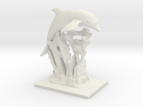 Dolphin Statue in White Strong & Flexible