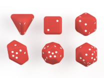 Pip D20 (small) in Red Strong & Flexible Polished