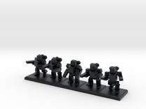 TA ARM Pewee Squad - 1cm tall in Black Hi-Def Acrylate