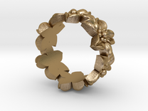 Flower Ring size 5.5 in Polished Gold Steel