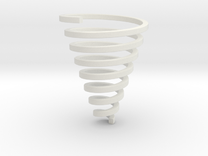Ross Spiral Jewelry? (25mm tall) in White Strong & Flexible