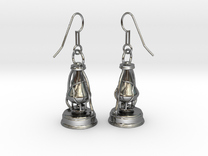 kerosene lamp - earrings in Premium Silver