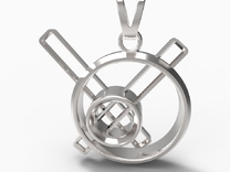 Stopped Time Pendant in Premium Silver