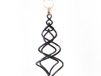 Earring_Spiral_Ito in Black Strong & Flexible