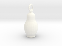 Pendantmatreshka in White Strong & Flexible Polished
