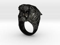Tiger ring size 11 in Matte Black Steel