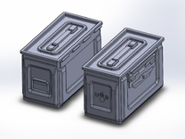 1/48 .50 cal Ammo Cans (24) in Frosted Ultra Detail