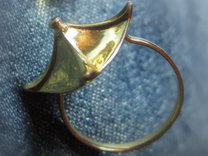 Chinese Roof ring in Polished Brass