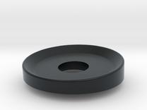 Door Washer 1 in Black Hi-Def Acrylate
