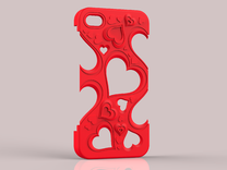 Hearts IPhone 5 v. II in Red Strong & Flexible Polished