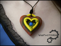 Iron Heart Pendant in Full Color Sandstone