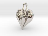 Heart Pendant Simple Elegant in Rhodium Plated