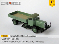 Henschel 6J2 Pritsche (TT 1:120) in Frosted Ultra Detail