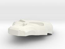 Judge Dredd: SJS Helmet Skull Mod in White Strong & Flexible