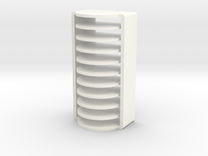 10 Coin Cell Battery Case in White Strong & Flexible Polished