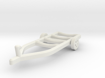 Z-Scale Boat Trailer in White Strong & Flexible
