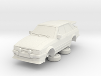 1-64 Ford Escort Mk3 2 Door Rs Turbo Whale Tail in White Strong & Flexible