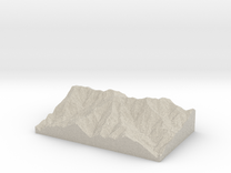 Model of Cucamonga Peak in Sandstone