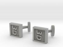 Custom cufflink nr.15 in Metallic Plastic