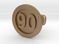 Cufflink 90 in Matte Gold Steel