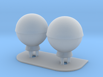 1:200 SatCom Dome Set 3 in Frosted Ultra Detail