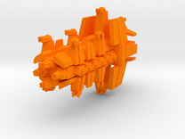 Colour Free Republic Artilery Cruser in Orange Strong & Flexible Polished