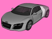 AUDI R8  in White Strong & Flexible