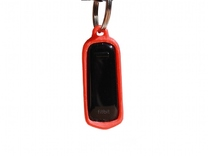 Fitbit One Keychain Case in Red Strong & Flexible Polished