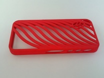 wavy case in Red Strong & Flexible Polished