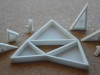 The Triangles of Pythagoras Puzzle in White Strong & Flexible