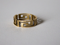 Aztec ring Size 7 5 in Raw Bronze