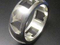 """I """"Heart"""" U ring in Stainless Steel"""