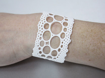 lace cuff in White Strong & Flexible Polished