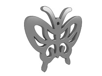 Butterfly Pendant in White Strong & Flexible