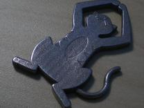 Detailed Cat Pendant in Stainless Steel