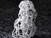 Voronoi Vase in White Strong & Flexible