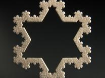 Koch Snowflake Ornament (4th Iteration) in Stainless Steel