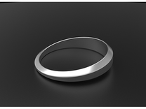 Women's Simple Life Ring in Polished Silver