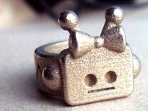 Girl Robot Ring in Stainless Steel