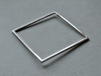 Square Bracelet Medium in Polished Nickel Steel