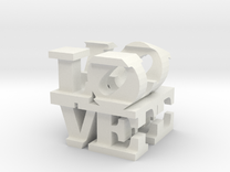 love/life - extralarge (25cm) in White Strong & Flexible